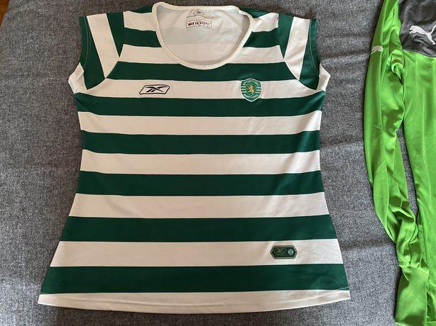 Camisola do Sporting de rapariga L scp mulher feminino reebok