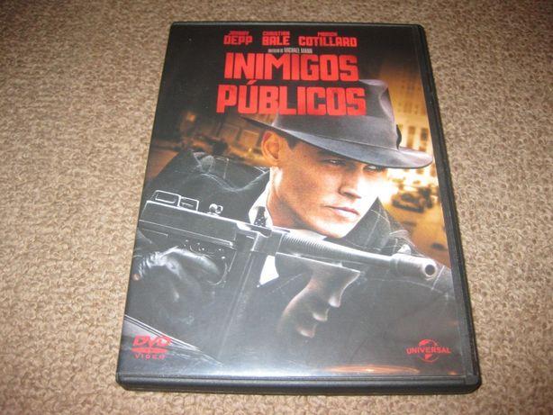 """DVD """"Inimigos Públicos"""" com Johnny Depp"""