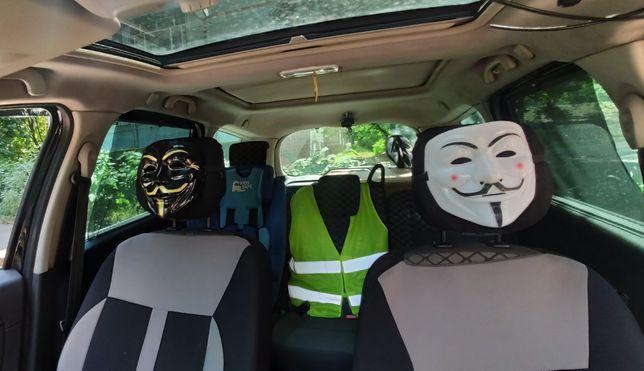 Набор 2шт маска Гая Фокс анонимус вендетта хакер тик ток черная и бела