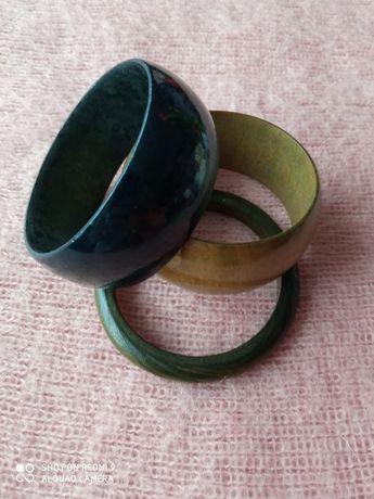 3 drewniane bransoletki. Boho styl, eko, zero west