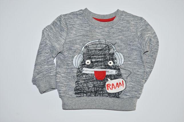 Bluza sweter Rebel 12-18msc 86cm szara