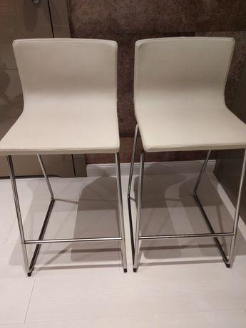 Stołki barowe Bernhard Ikea skórzane