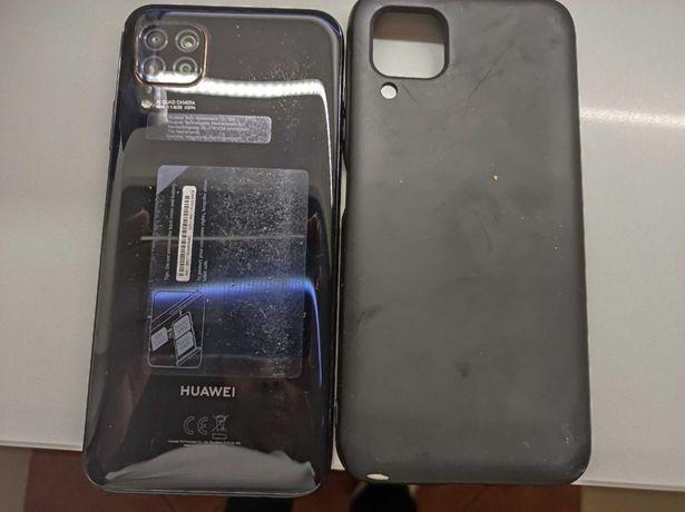 Huawei P40 Lite com carregador e capa protetora