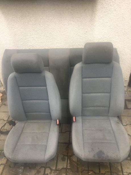 Fotele kanapa bmw e36 sedan jasne popielate silbergrau