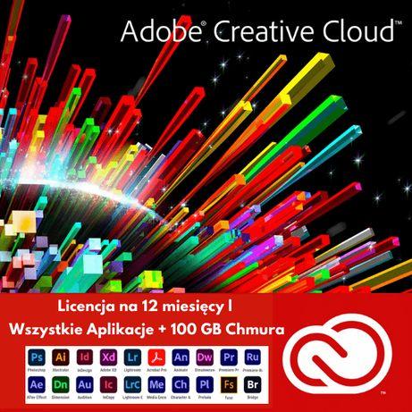 Adobe Creative Cloud - 12 miesięcy - Licencja - Wszystkie Aplikacje