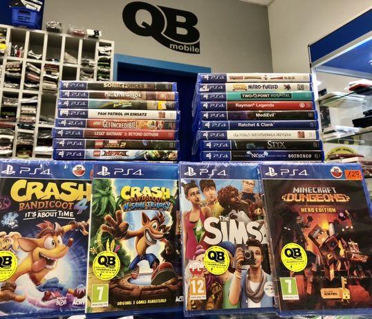 Gry PS4 Minecraft Crash Sims i inne