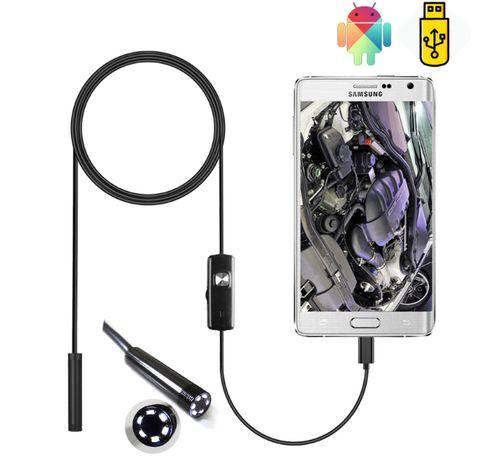Эндоскоп для телефона Type-c   Micro USB   Водонепроницаемый бороскоп