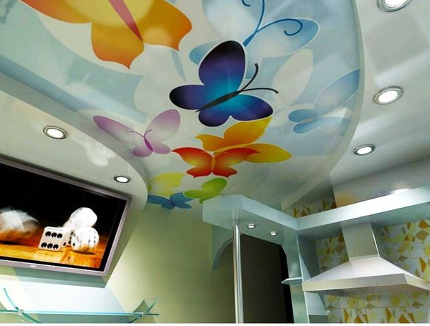 Натяжной потолок. 180грн м2 Любые решения и проекты. Натяжные потолки