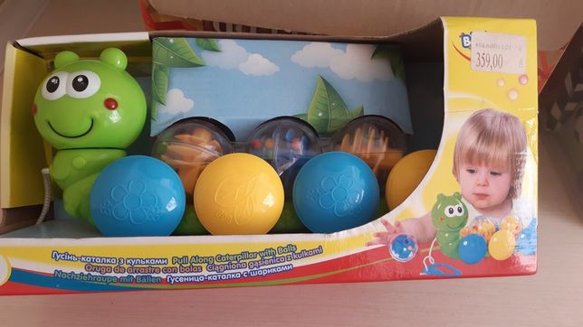 Игрушка для детей 9м+ гусеница