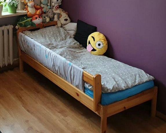 Łóżko drewniane dziecięce 160x70 bez materaca