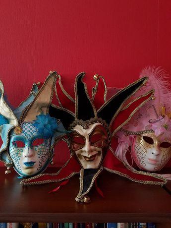 Maski weneckie, karnawałowe.