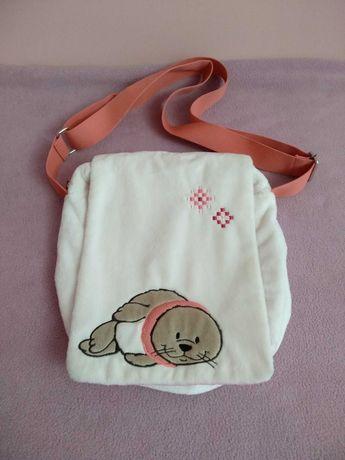 белая плюшевая сумка кроссбоди с милым тюленем nici германия