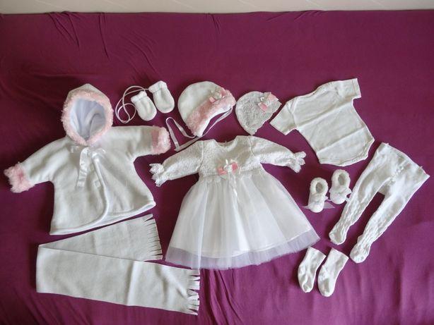 ubranko do chrztu rozm. 68 dla dziewczynki