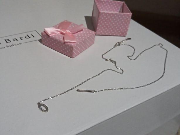 Łańcuszek srebrny+ pudełeczko