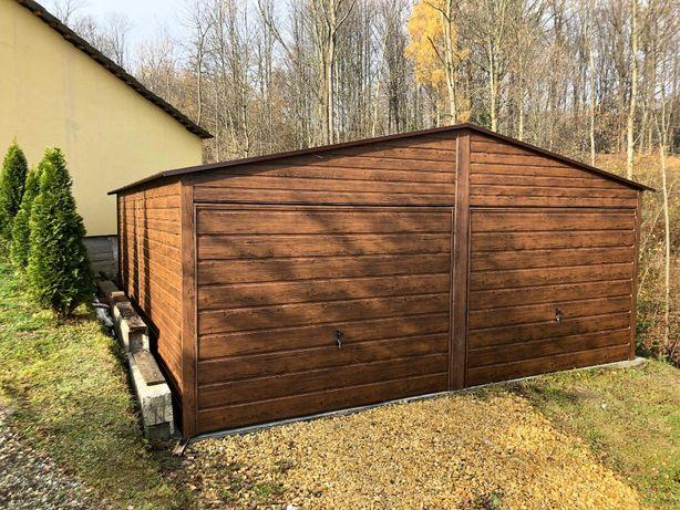 Garaż drewnopodobny PREMIUM super jakość! blaszak GARAŻ blaszany