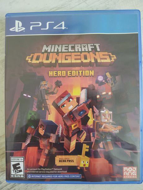 Диск Minecraft Dungeons: Hero Editions PS4 (Playstation4) Рус.Субтитры