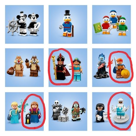 Lego Minifigures seria disney 2 - zamienię na inne