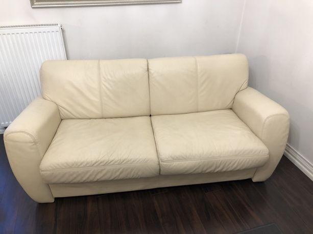 Sofa skórzana z funkcja spania