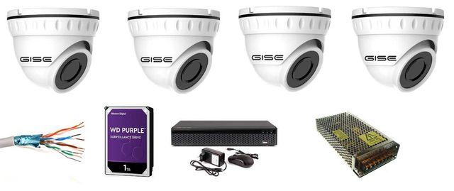 zestaw kamer 4-16 kamery 4K 8mpx 2160p montaż monitoringu kamer Wawer