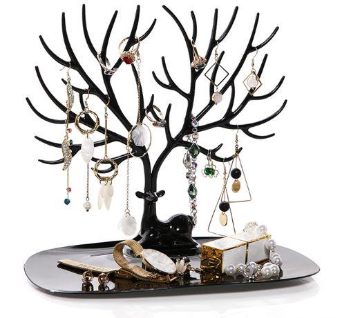 Stojak na biżuterię rogacz jeleń drzewko organizer