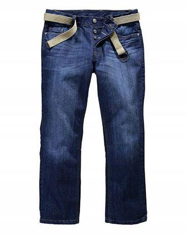 Bardzo duże 9XL spodnie męskie jeansy z paskiem Nowe