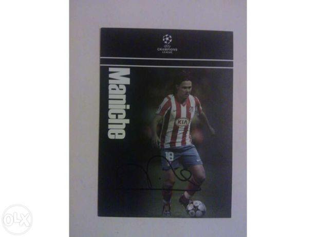 Cartão Maniche (jogador) - uefa champions league - autografado