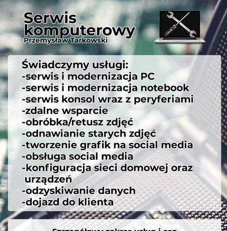 Serwis- naprawa PC, laptopów, konsole- przepięcia, zalania, software