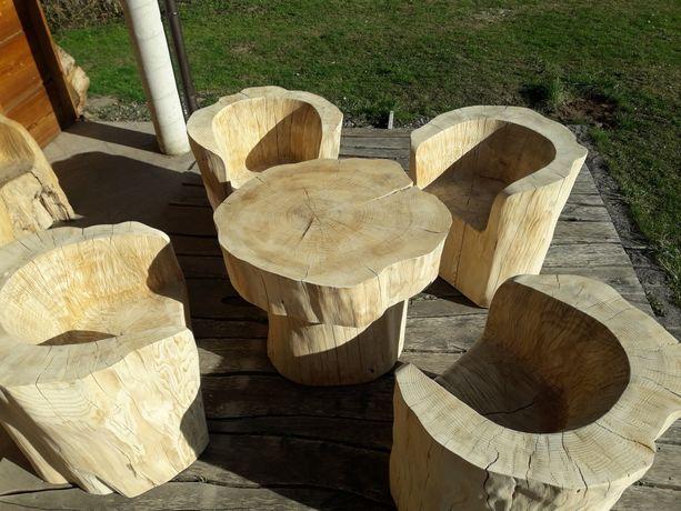 Fotele z pnia altana taras klubowe meble ogrodowe