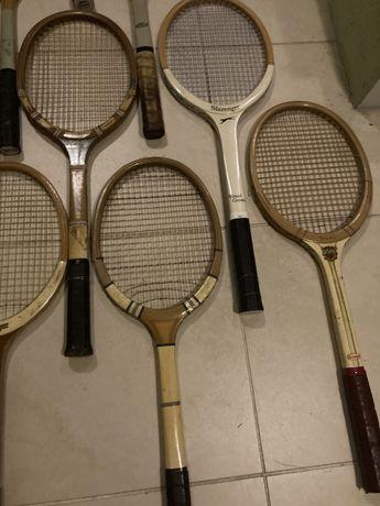 Zabytkowe rakiety do tenisa