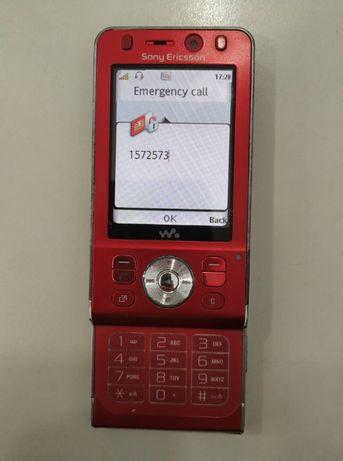 Telemóvel Sony Ericsson W910i Vodafone c/acessórios - pequena avaria