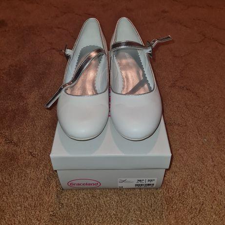 Nowe białe buty Komunia rozmiar 34