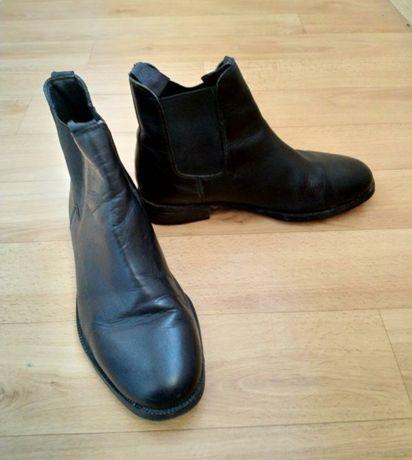Стильный, кожаные демисезонные ботинки 39 размера