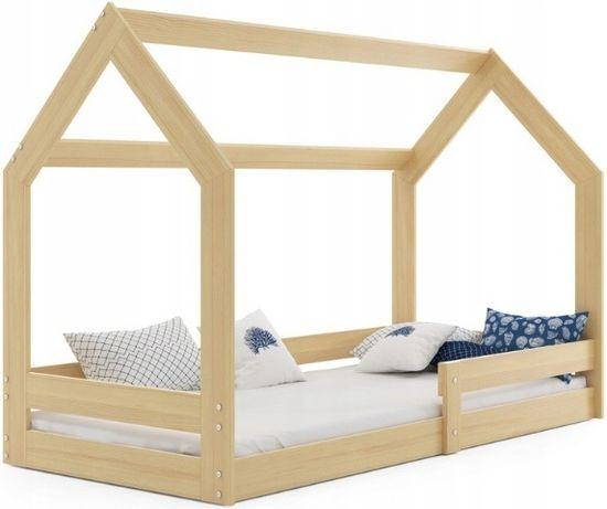 Łóżko dziecięce domek z materacem 160x80