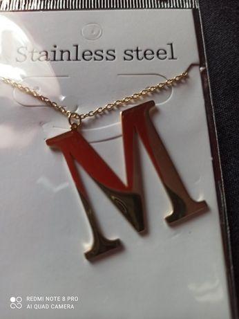 Sprzedam naszyjnik z literką M