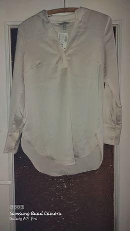 Bluzeczka tunika jedwabna HM kolor ecru