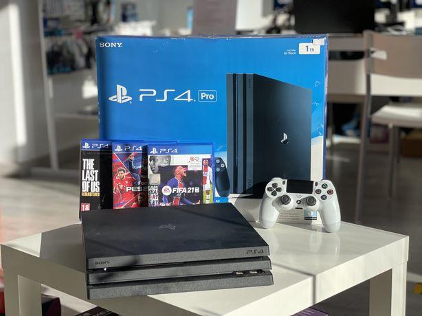 PlayStation 4 Pro (4K) 1 TB - 1 Ano de Garantia + 3 Jogos (PS4)