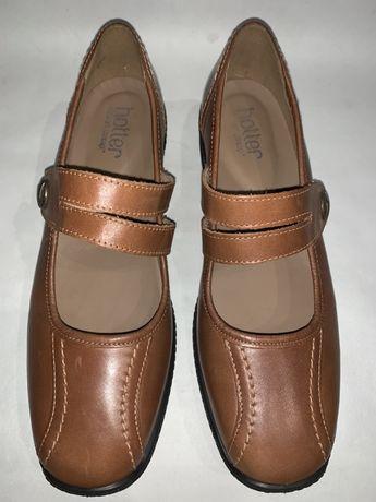 Англия! Женские кожаные фирменные туфли Hotter. Размер 40. Стелька 26.