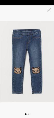 Nowe, prześliczne leginsy jeansowe H&M rozmiar 92 cm