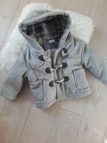 Kurtka płaszczyk szary dla dziecka 6-9 cmy rozm 68-74 paltko