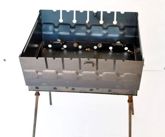 Мангал чемодан на 6 шампуров. Металл 2 мм. Не одноразовый!