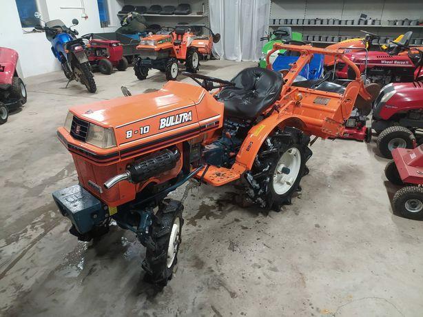 Mini Traktorek Kubota B-10 Diesel 4wd- 9,5 koni z glebogryzarką