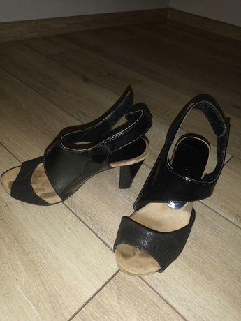 Buty na obcasie czarne rozmiar 35