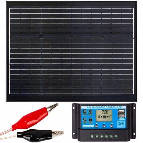 Panel solarny bateria słoneczna 70w 12v regulator [ZES273]