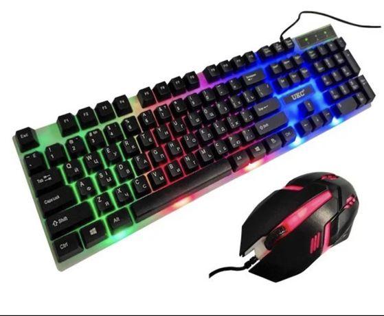 Клавіатура з підсвіткою Ukс + подарунок мишка