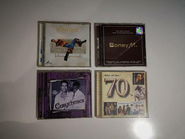 Płyty CD, Boney M, Eurytmics, Sonique, Hits of the 70, komplet