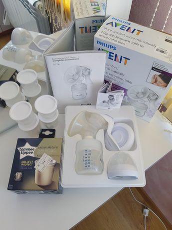 Ручной молокоотсос Philips Avent + ПОДАРОК контейнеры для молока