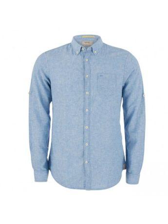 Camisa Linho Manga Comprida Camel Active Tamanho L Azul