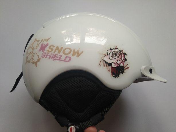 Детский горнолыжный сноубордический шлем Cas-co Snow Shield, 50-55см.