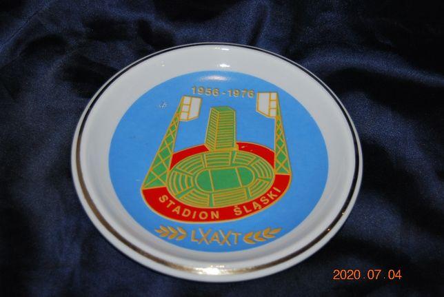 Porcelana Bogucice talerz ozdobny 20 lat Stadion Śląski PRL 1976