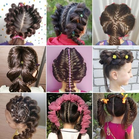 Уникальные праздничные прически, Плетение кос, косы с канекалоном